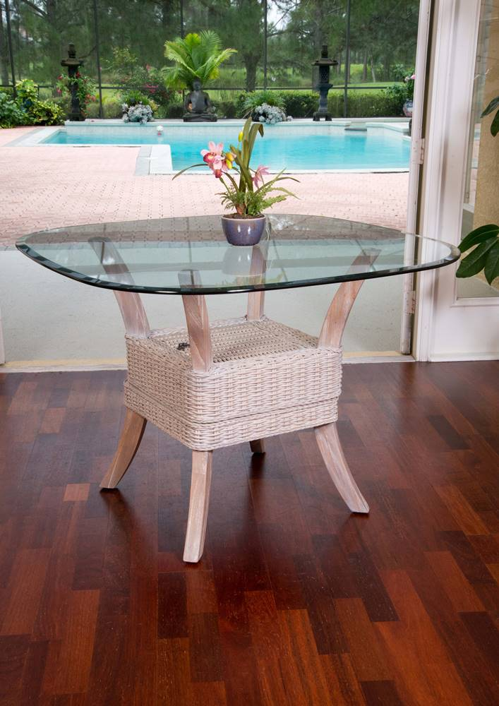 Belize Dining Table Base Rustic Driftwood Finish