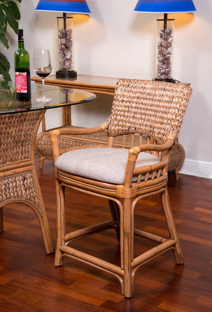Key Largo Counter Chair Antique Honey Finish Alexander