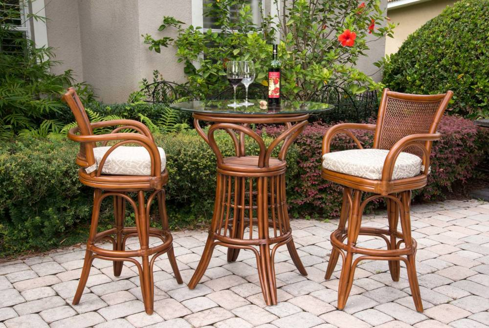 Singapore Barstool Alexander amp Sheridan Casual  : SNG10124 10130 SI Singapore Bar Height Pub table 3PC set Sienna 1000x671 from www.rattanwicker.com size 1000 x 671 jpeg 155kB